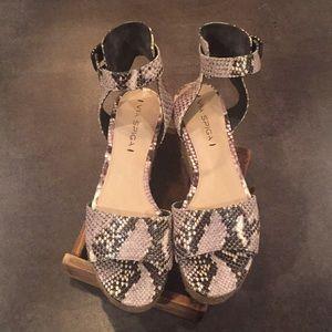 Via Spiga Snake Skin Platform Sandals